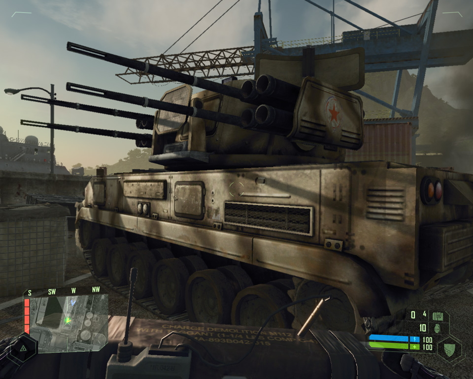 crysis как пройти миссию с танками